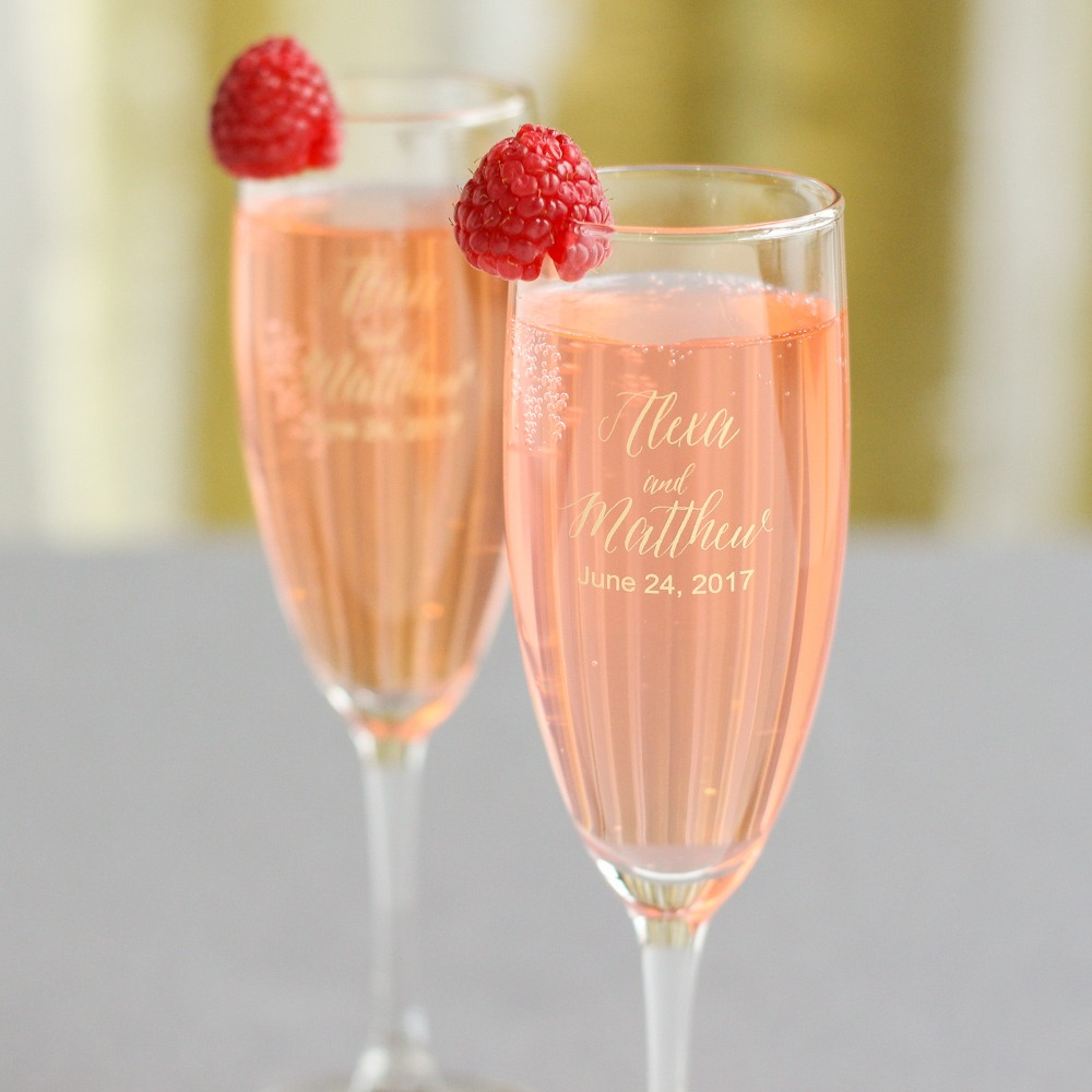 Personalized Modern Champagne Flute