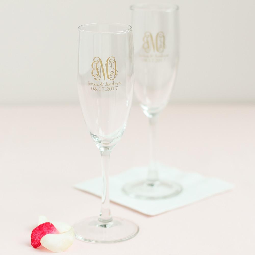 Personalized Garden Vine Champagne Flute