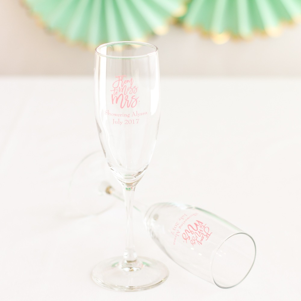 Personalized Champagne Flute Favors 7865
