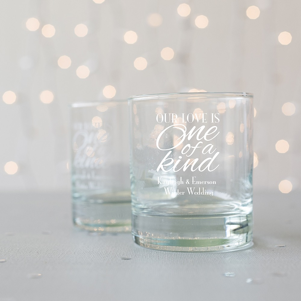 Personalized Winter Themed Rocks Glasses