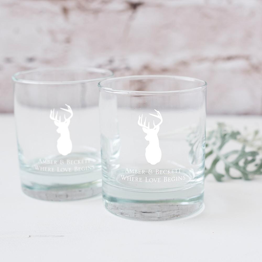 Personalized Woodland Rocks Glasses