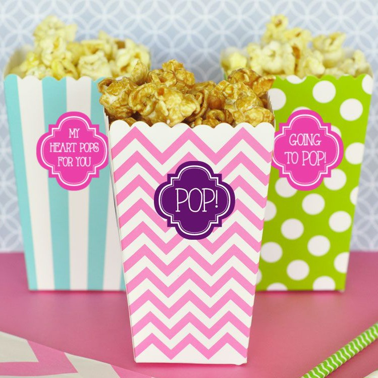 Personalized Popcorn 'N Treats Boxes 7972