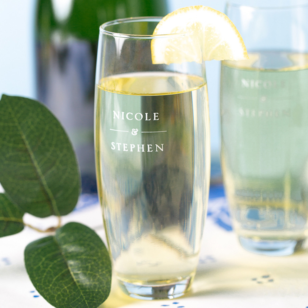 Personalized Citrus Garden Stemless Champagne Flute