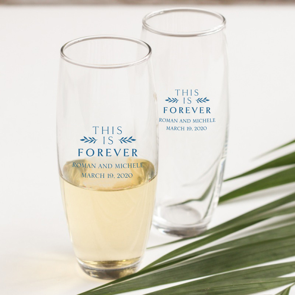 Personalized This is Forever Stemless Champagne Flute