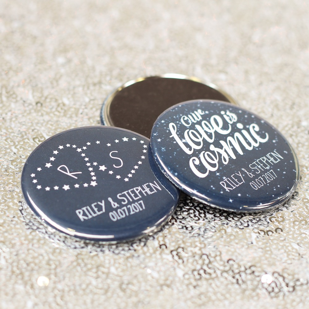 Personalized Celestial Button Magnets
