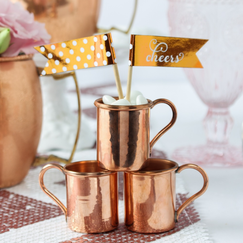 Mini Copper Moscow Mule Mugs 8052