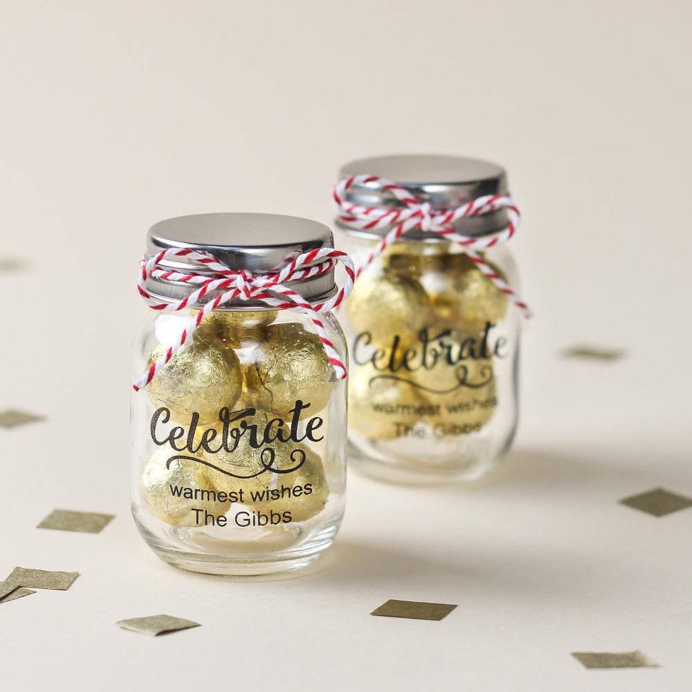 Personalized Celebrate Mini Mason Jars