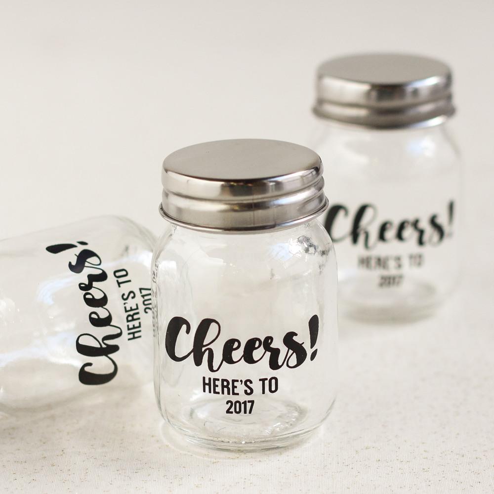 Personalized Printed Party Mini Mason Jars