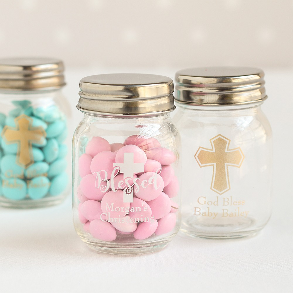 Personalized Religious Mini Mason Jars