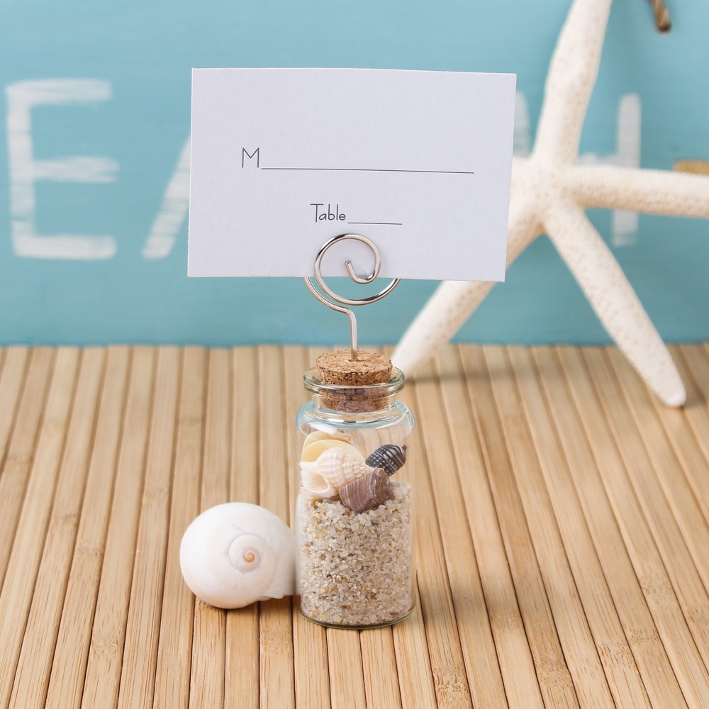 Glass Jar Place Card Holder 8085