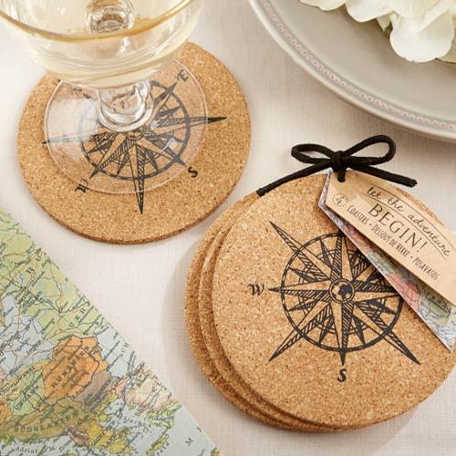 Compass Cork Coasters 8244