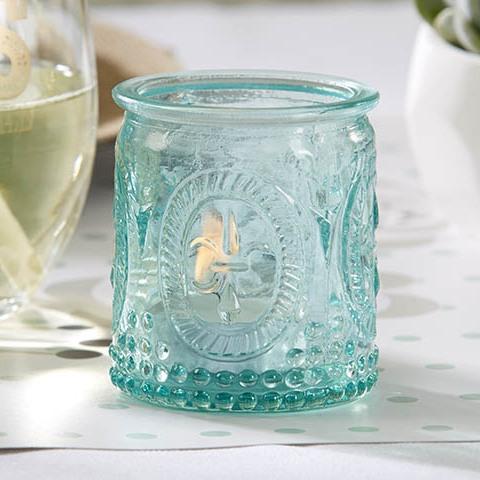 Vintage Glass Tealight Holder