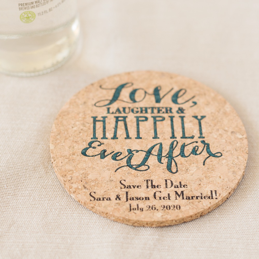 Personalized Exclusive Round Cork Coasters