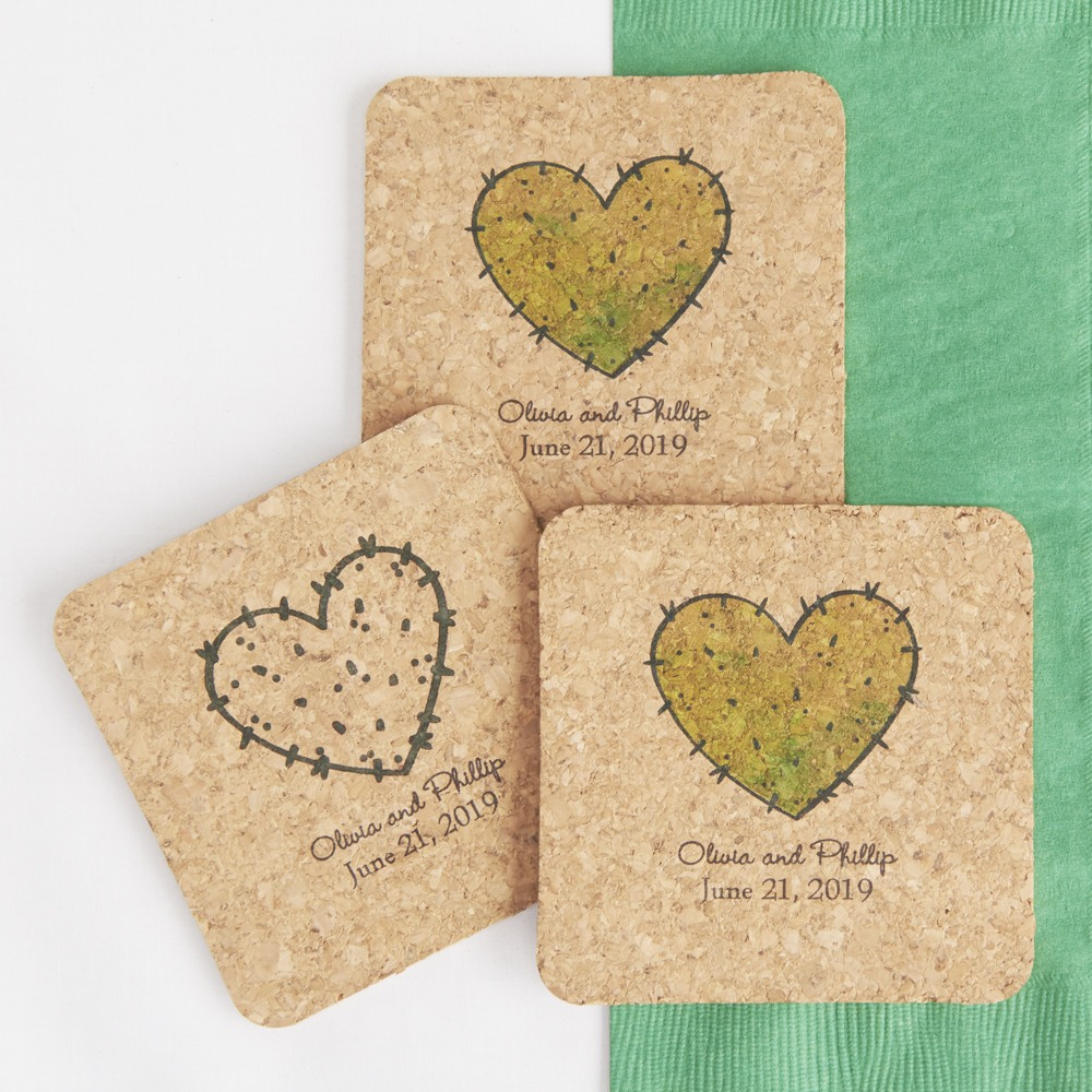 Personalized Cork Coasters Stuck on you