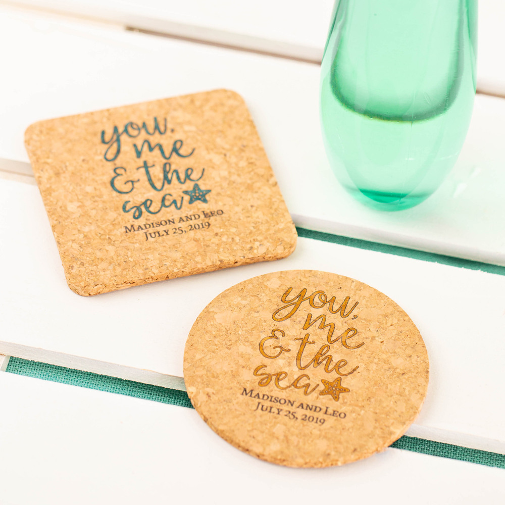 Personalized Cork Coasters 8296