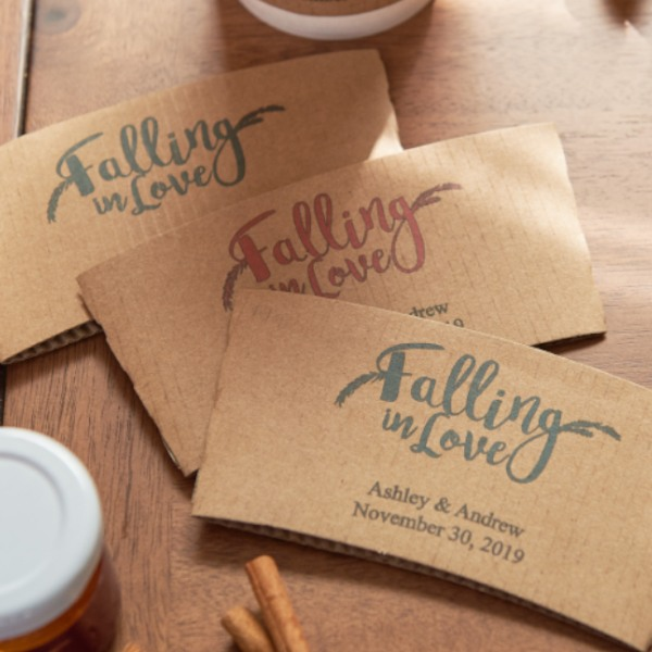 Personalized Coffee Sleeve- Falling In Love