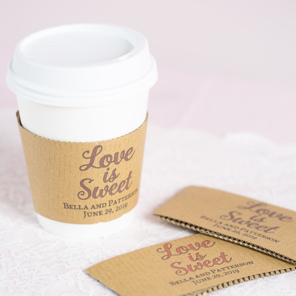 Personalized Love is Sweet Coffee Sleeves