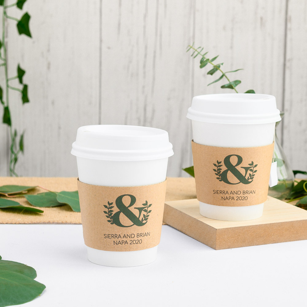 Personalized Eco Ampersand Coffee Sleeves
