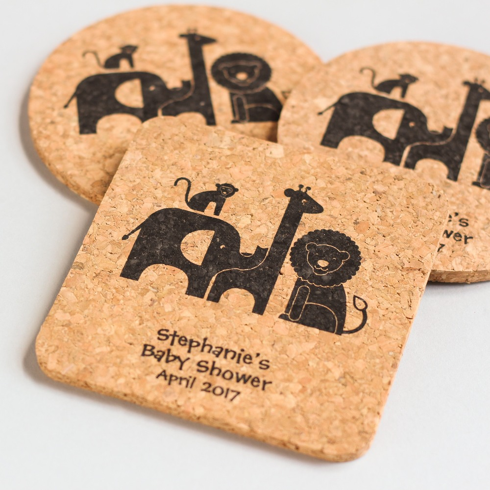 Personalized Safari Cork Coasters