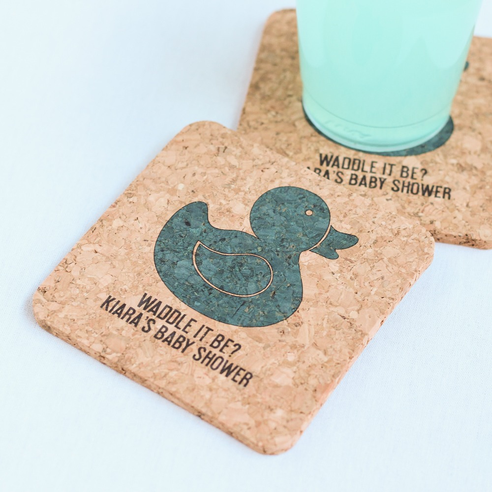 Personalized Duck Cork Coasters