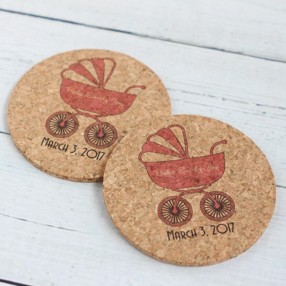 Personalized Carriage Cork Coasters