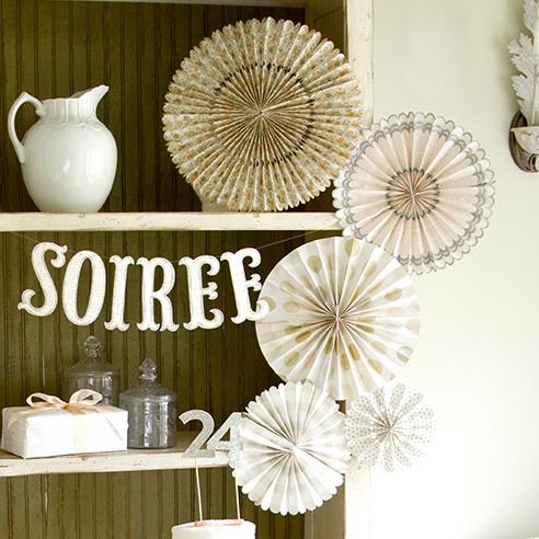 Vintage Pinwheel Decorations