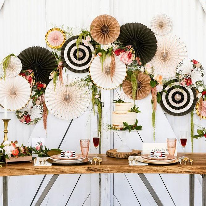 Botanical Pinwheel Decorations