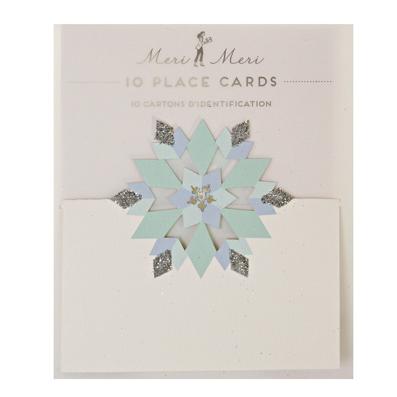 Glitter Snowflake Place Cards Packaging