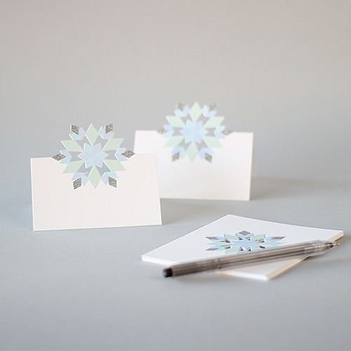 Glitter Snowflake Place Cards 8423