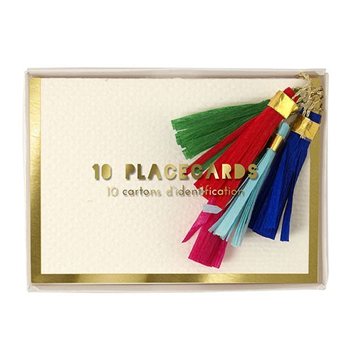 Colored Tassel Place Cards Packaging
