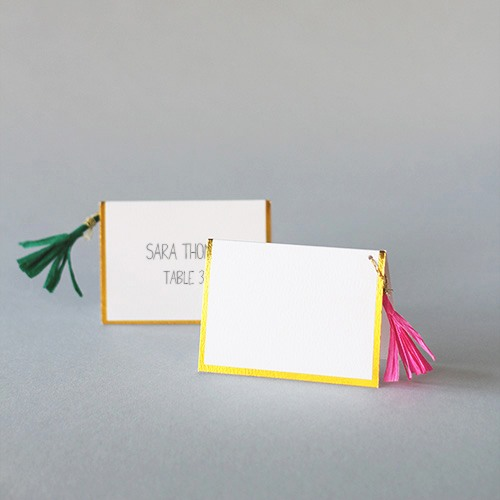 Colored Tassel Place Cards 8437