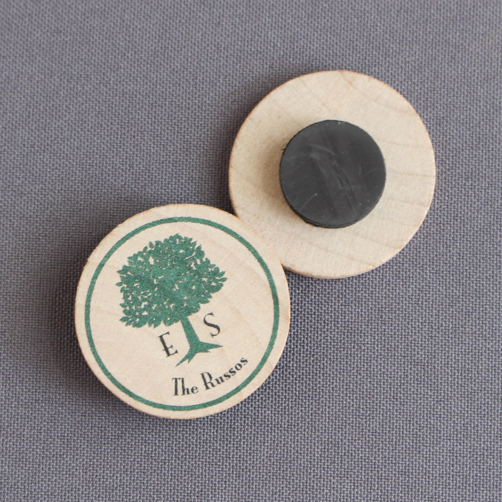 Personalized Wedding Tree Wooden Wedding Magnets