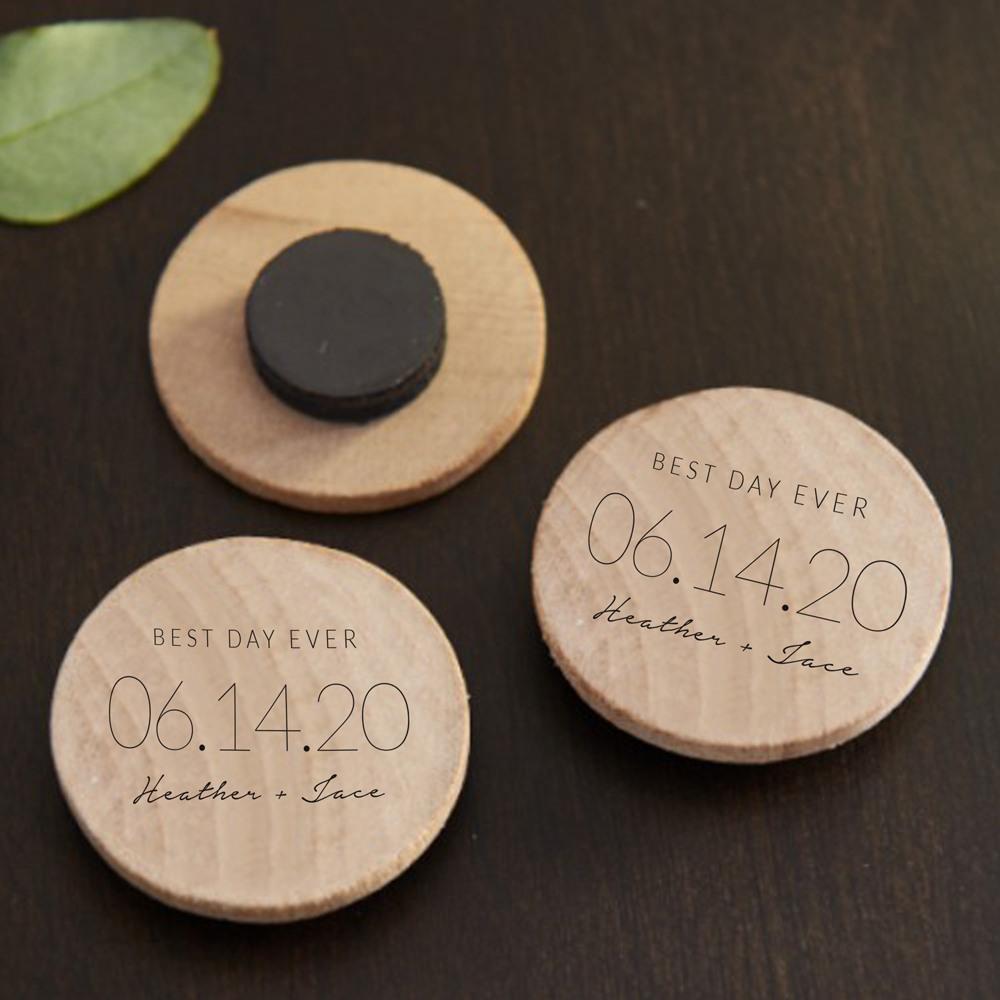 Personalized Wedding Date Cork Coasters