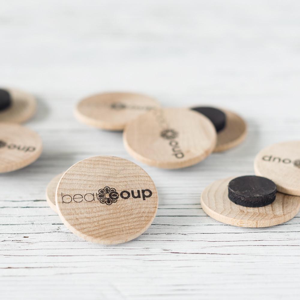 Custom Photo Wooden Magnets 8495