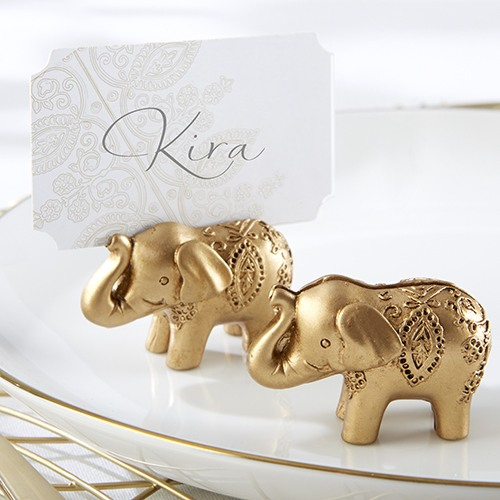 Lucky Golden Elephant Place Card Holders 8509