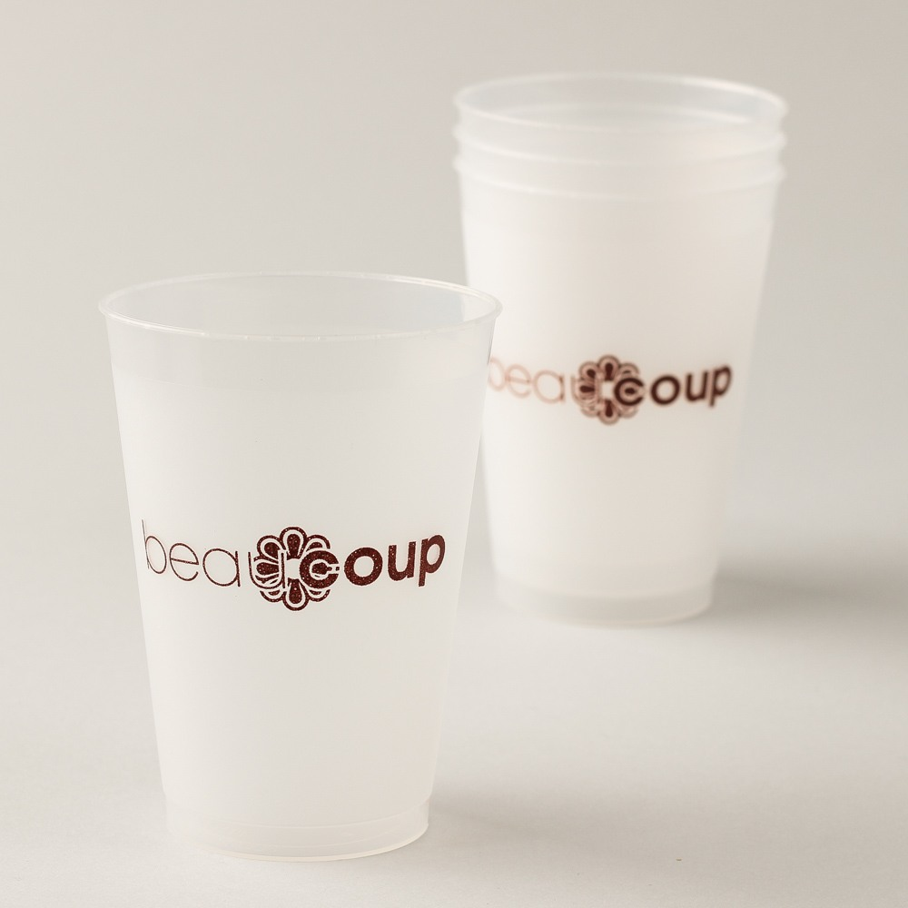 Coprorate Frosted Plastic Cups