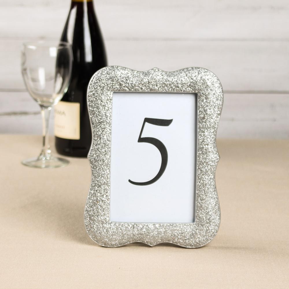 Silver Glitter Scallop Frame