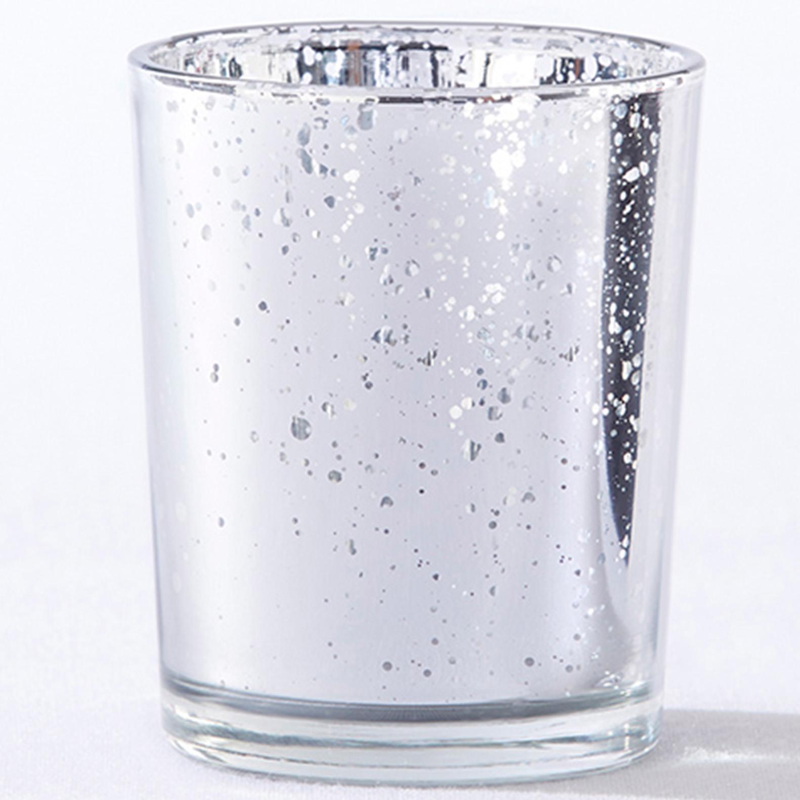 Silver Mercury Glass Tealight Holders