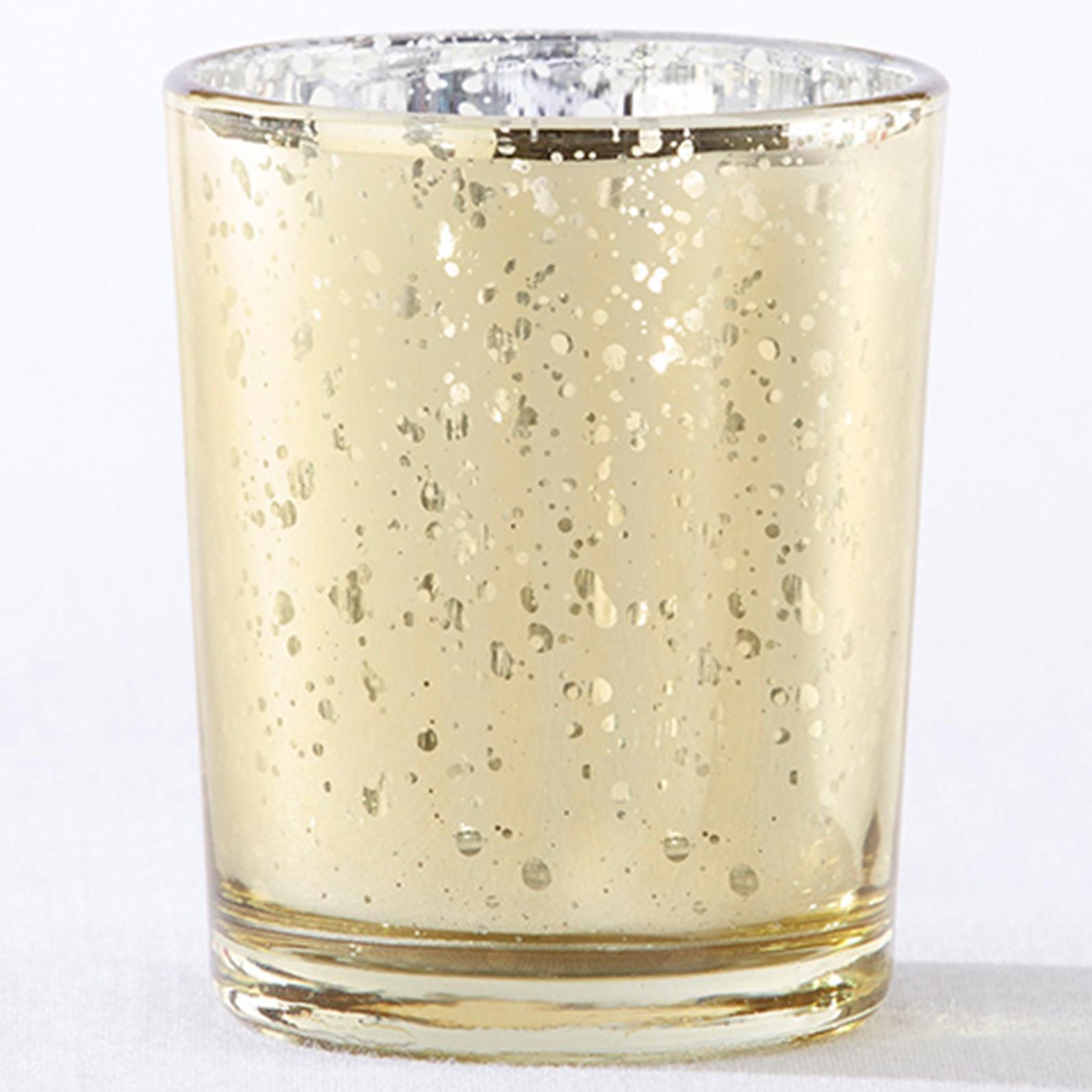 Gold Mercury Glass Tealight Holders