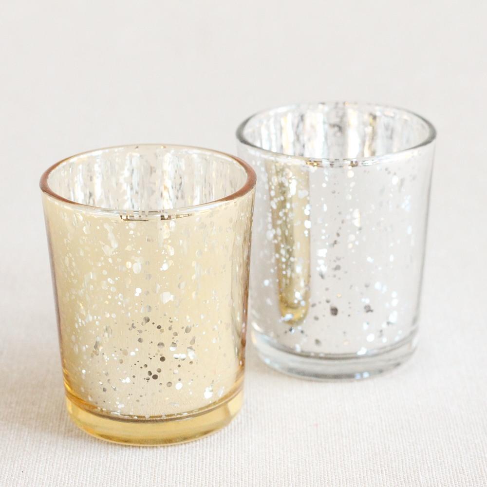 Mercury Glass Tealight Holders 8717