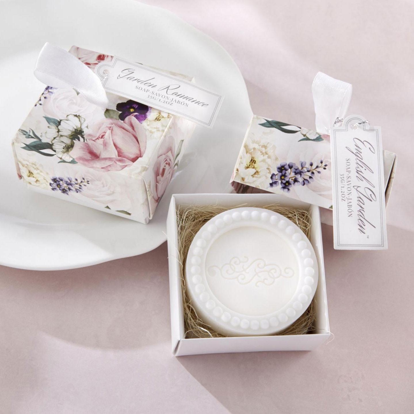 English Garden Floral Soap Favor