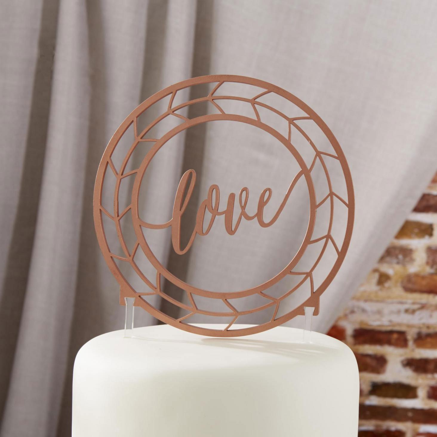 Copper Love Cake Topper 8724
