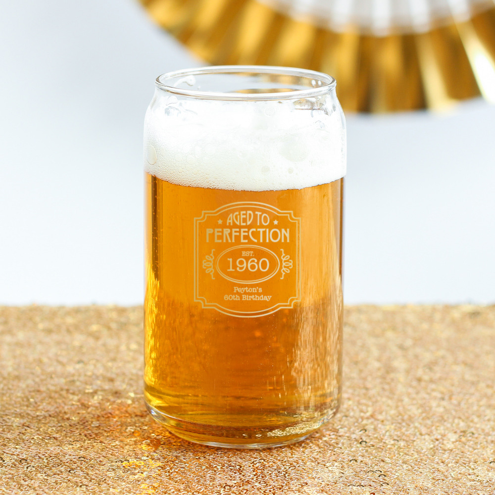 Personalized Birthday Can Glass 8742