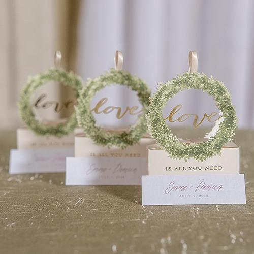 Love Wreath Favor Boxes 8749