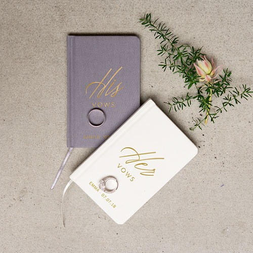 Personalized Wedding Vow Journal
