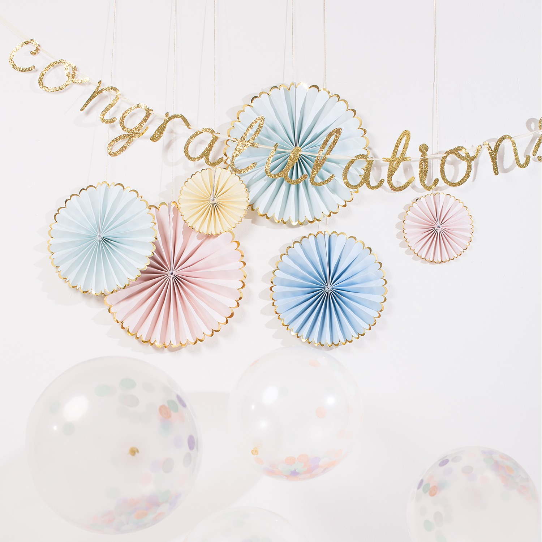 Pastel Pinwheel Decorations 8770