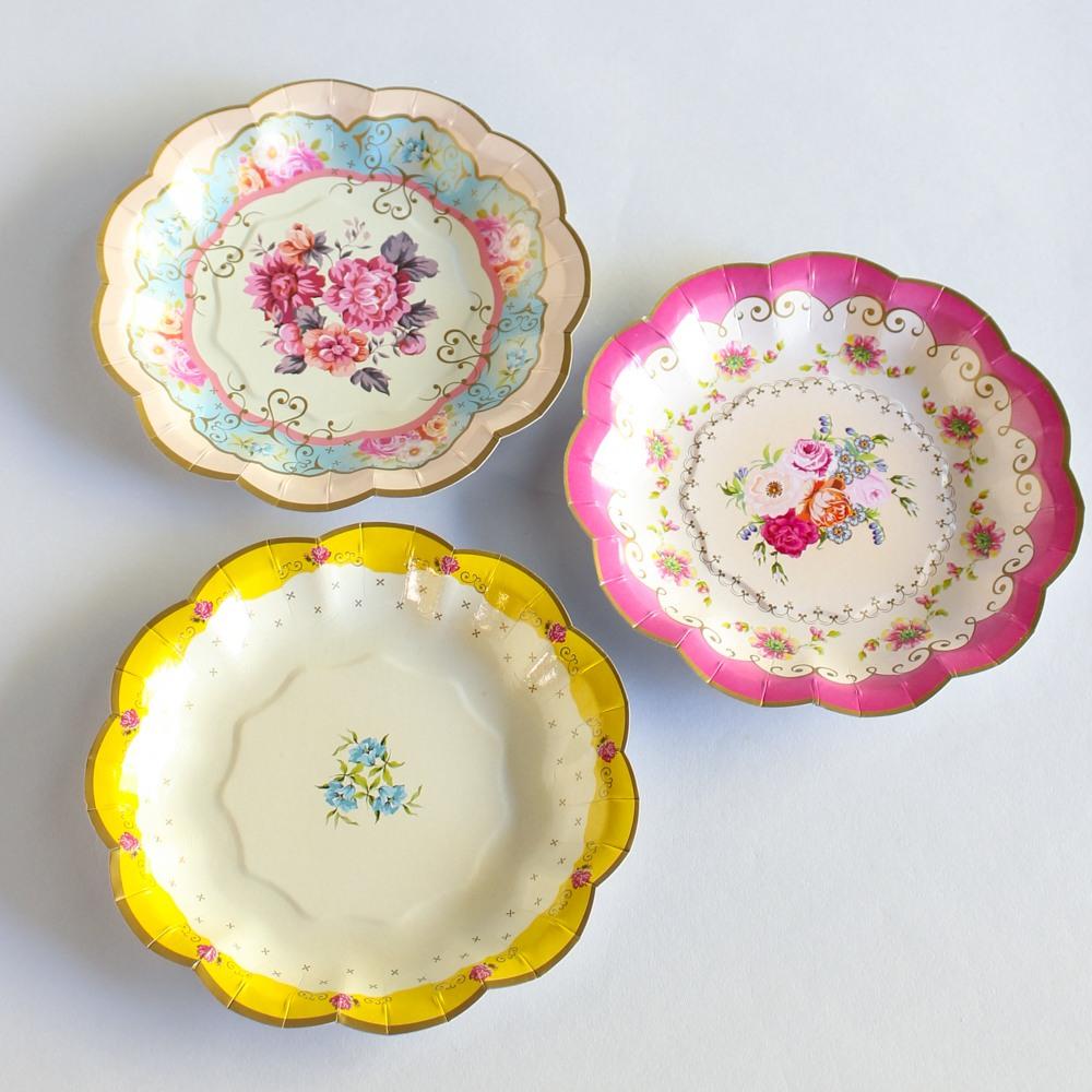 Tea Party Dessert Plates 8844