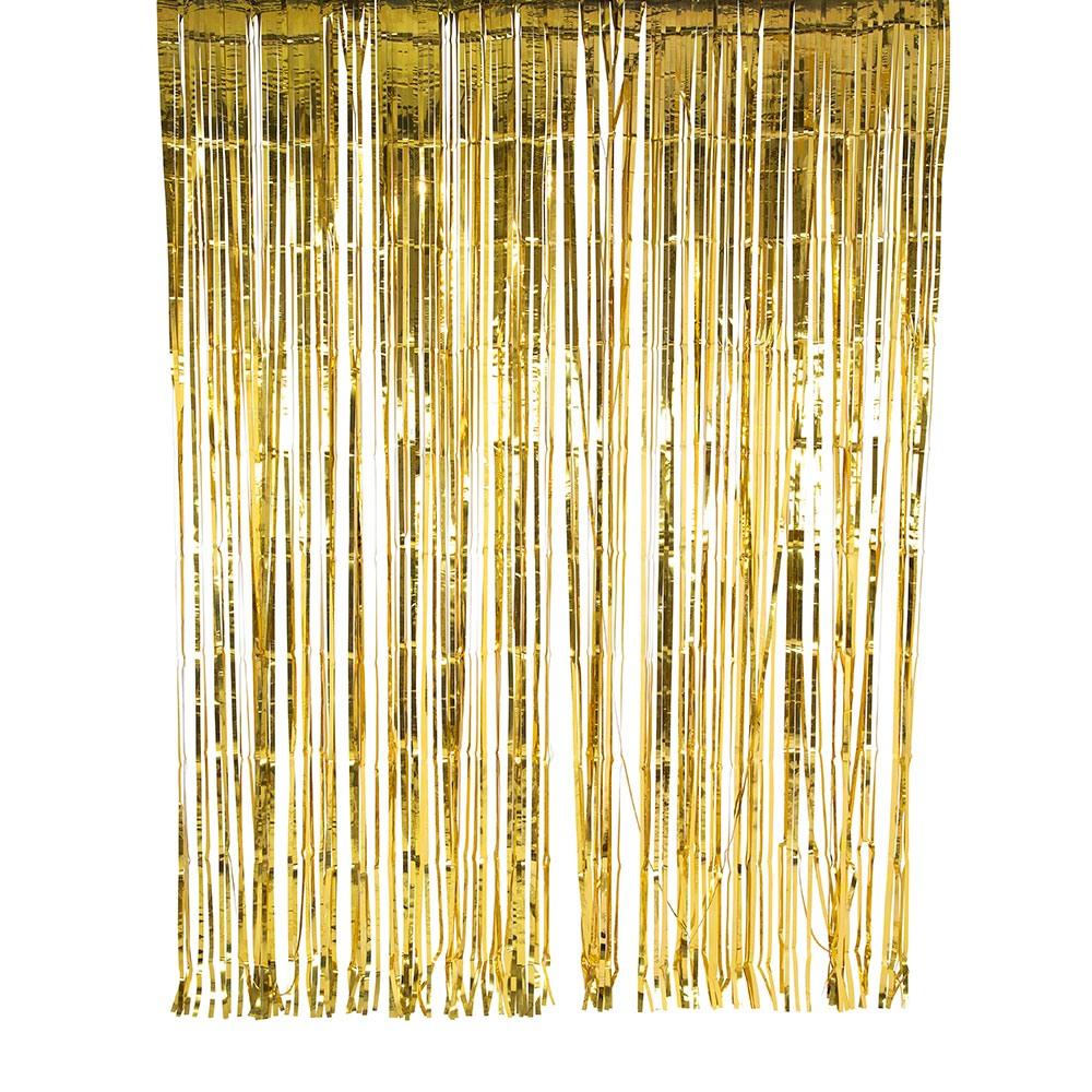 Metallic Foil Curtain 8869