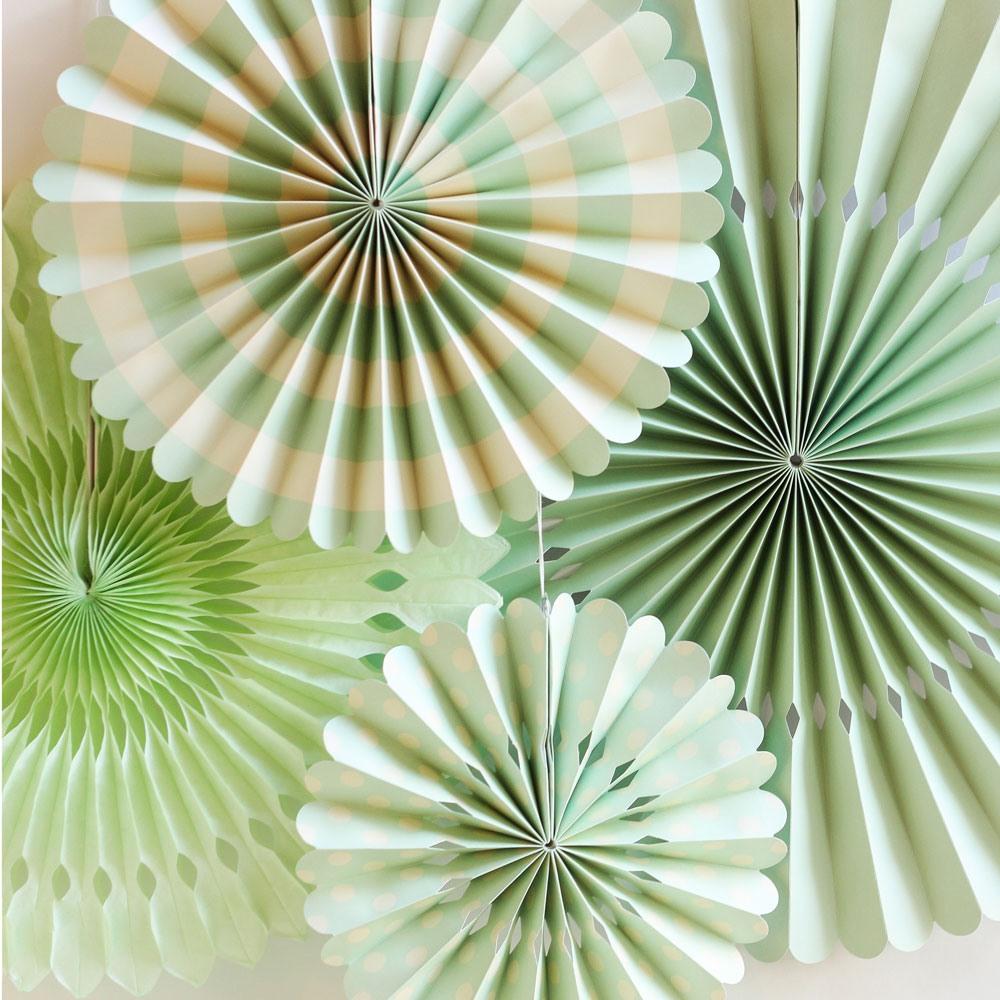 Mint Pinwheel Decorations