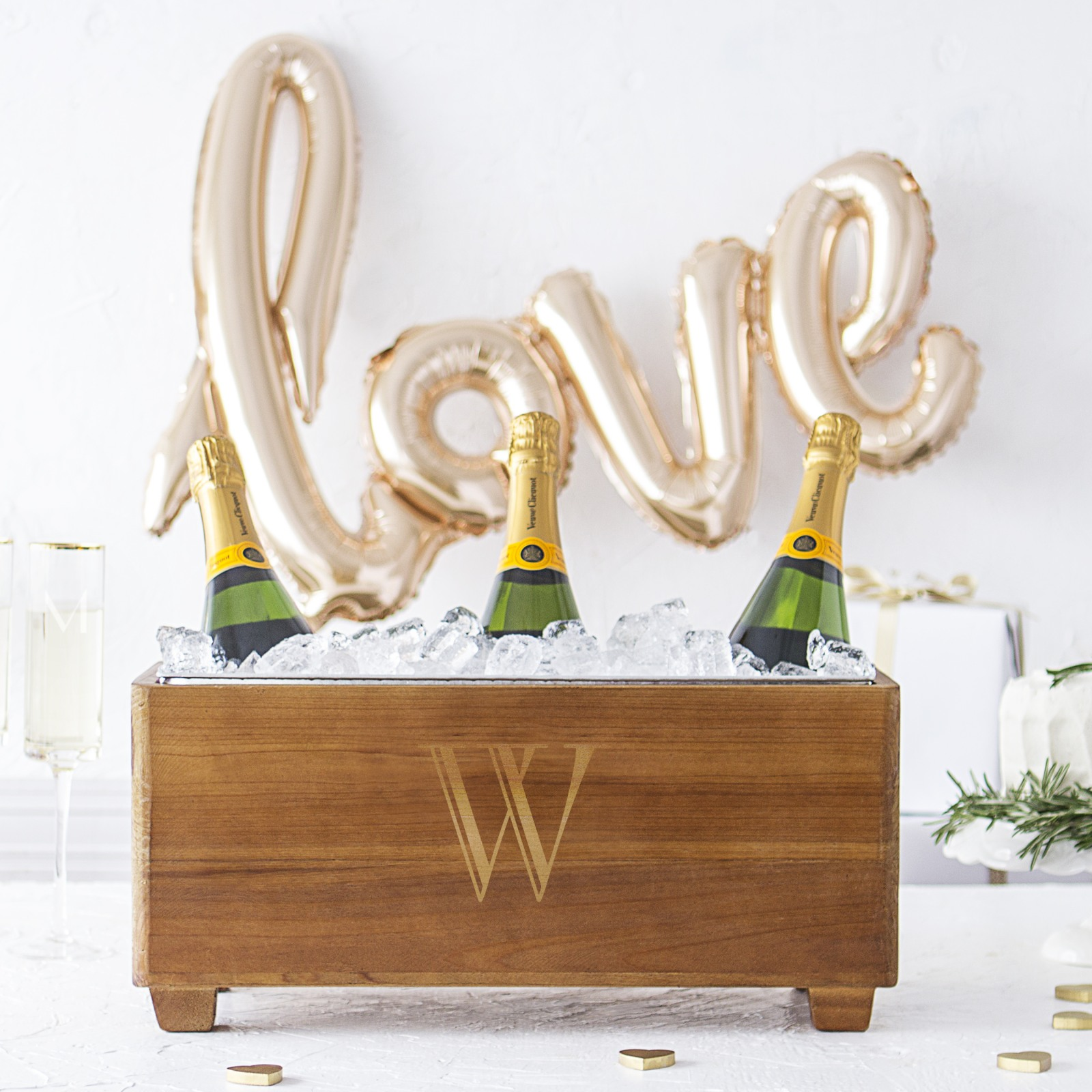 Personalized Wooden Wine Trough 8879